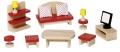 Nukumaja mööbel Elutuba (punane, täpiline)