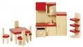 Nukumaja mööbel Köök (punane, täpiline)