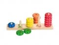 Värvi ja kujundi sorteerimismäng Ringid