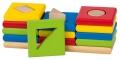 Värvi ja kujundi sorteerimismäng 3 torni