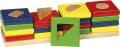 Värvi ja kujundi sorteerimismäng 4 torni
